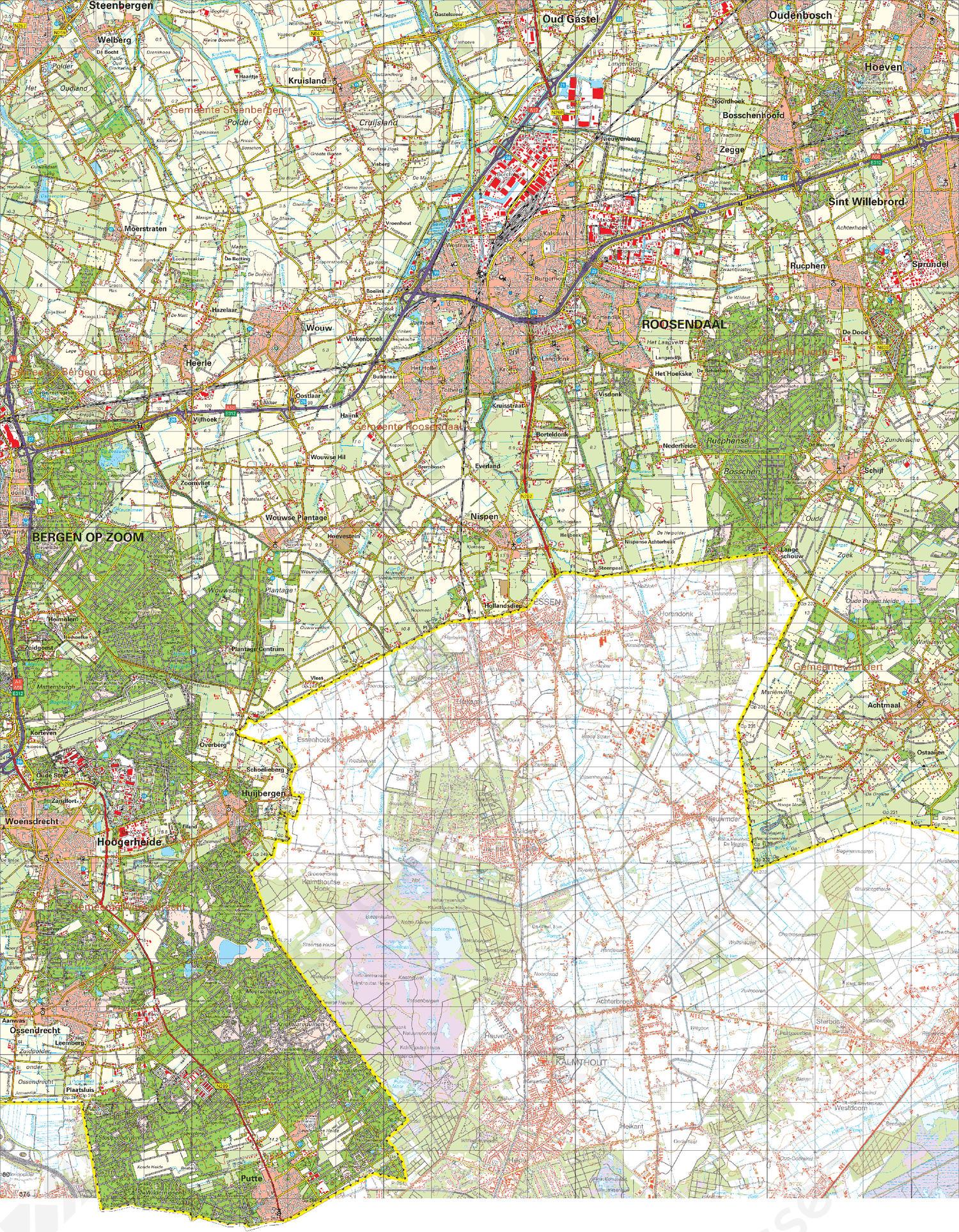 Topografische Kaart 49 Oost Bergen op Zoom