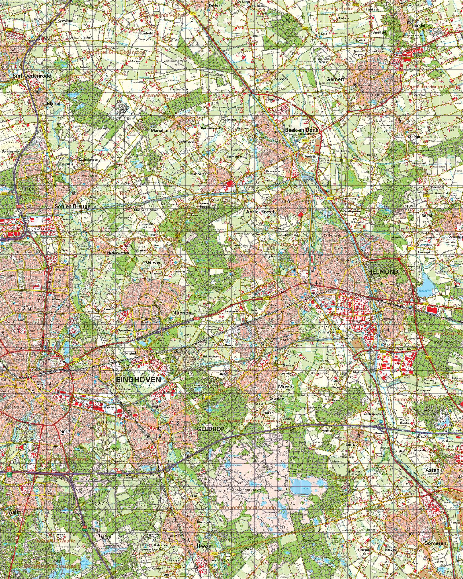 Digitale Topografische Kaart 51 Oost Eindhoven