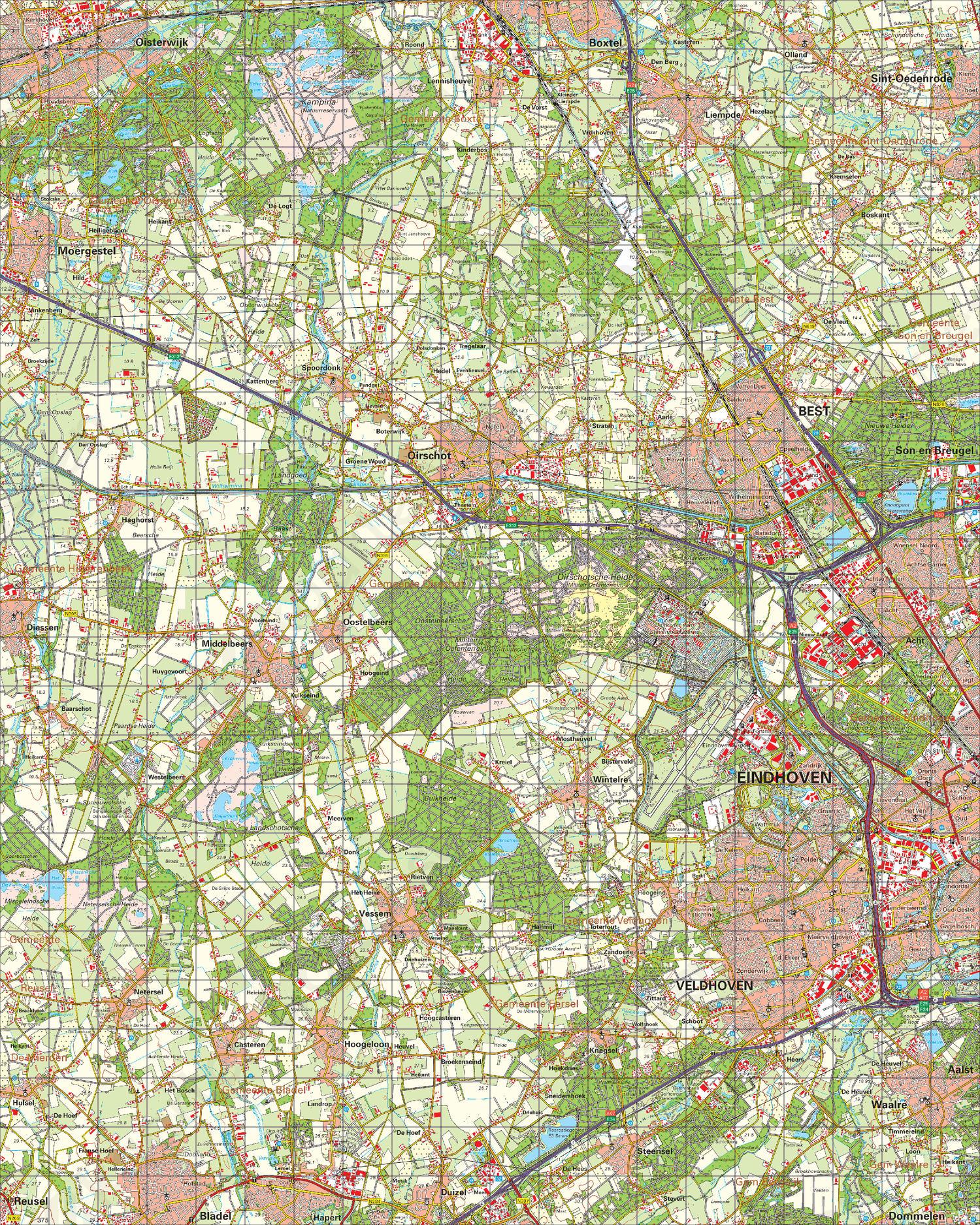 Digitale Topografische Kaart 51 West Eindhoven