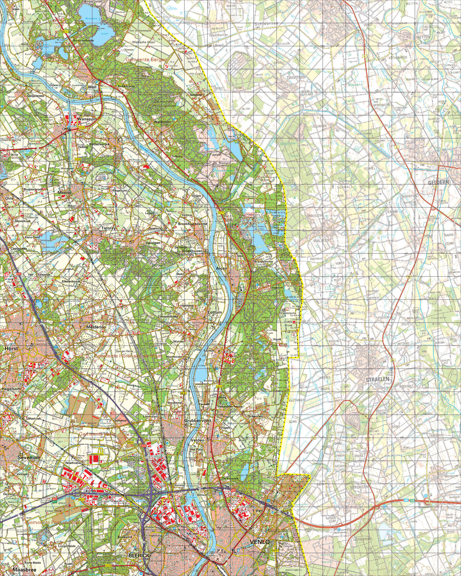 Digitale Topografische Kaart 52 Oost Venlo