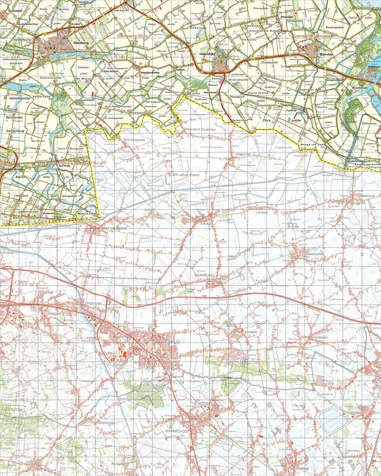 Topografische Kaart 54 West Terneuzen