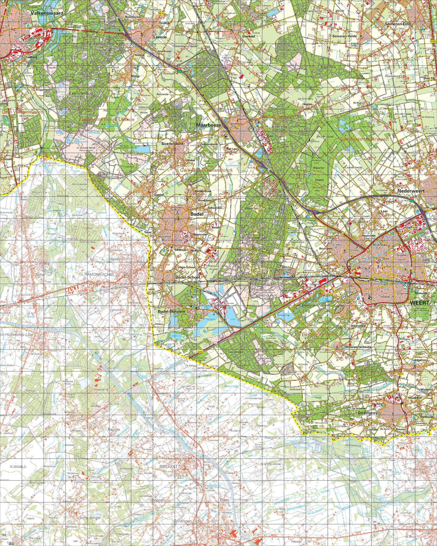 Digitale Topografische Kaart 57 Oost Valkenswaard