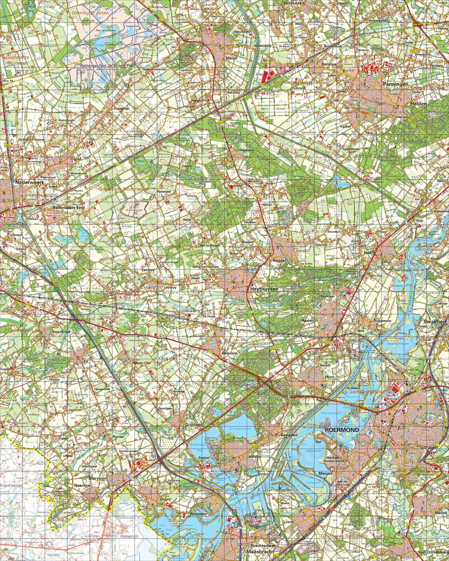 Topografische Kaart 58 West Roermond