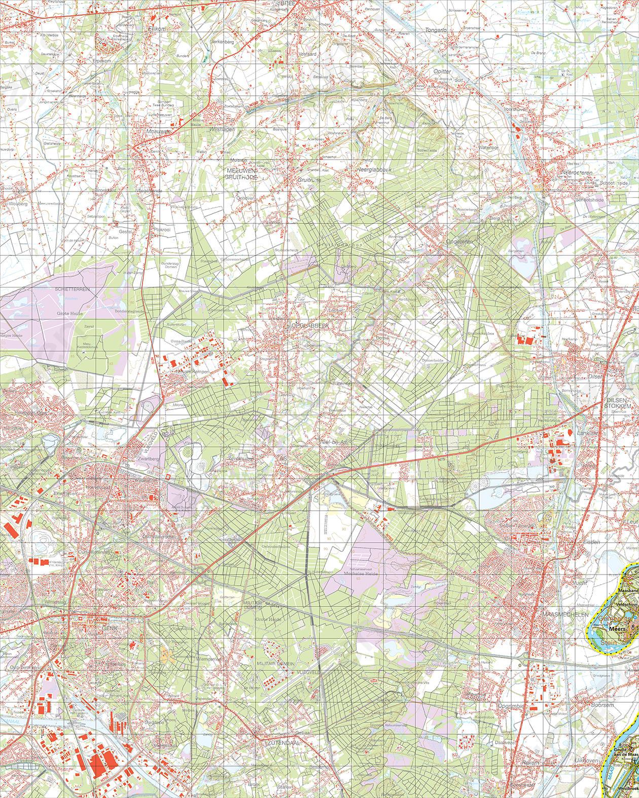 Topografische Kaart 59 Oost Meers