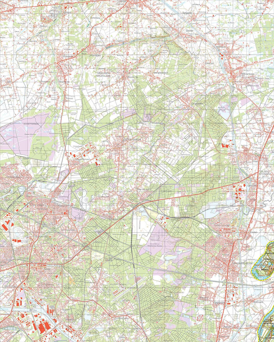Digitale Topografische Kaart 59 Oost Meers