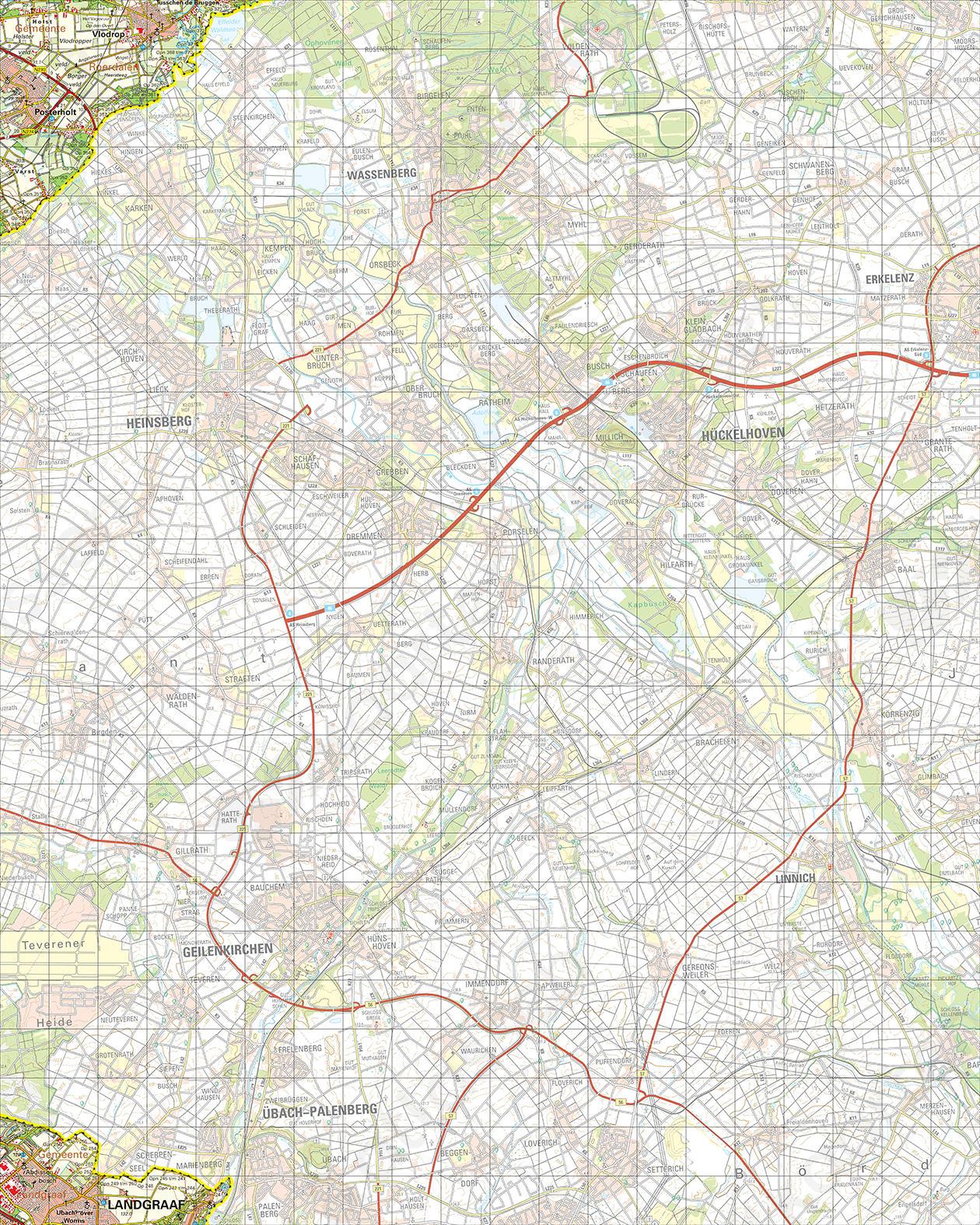 Topografische Kaart 60 Oost Sittard