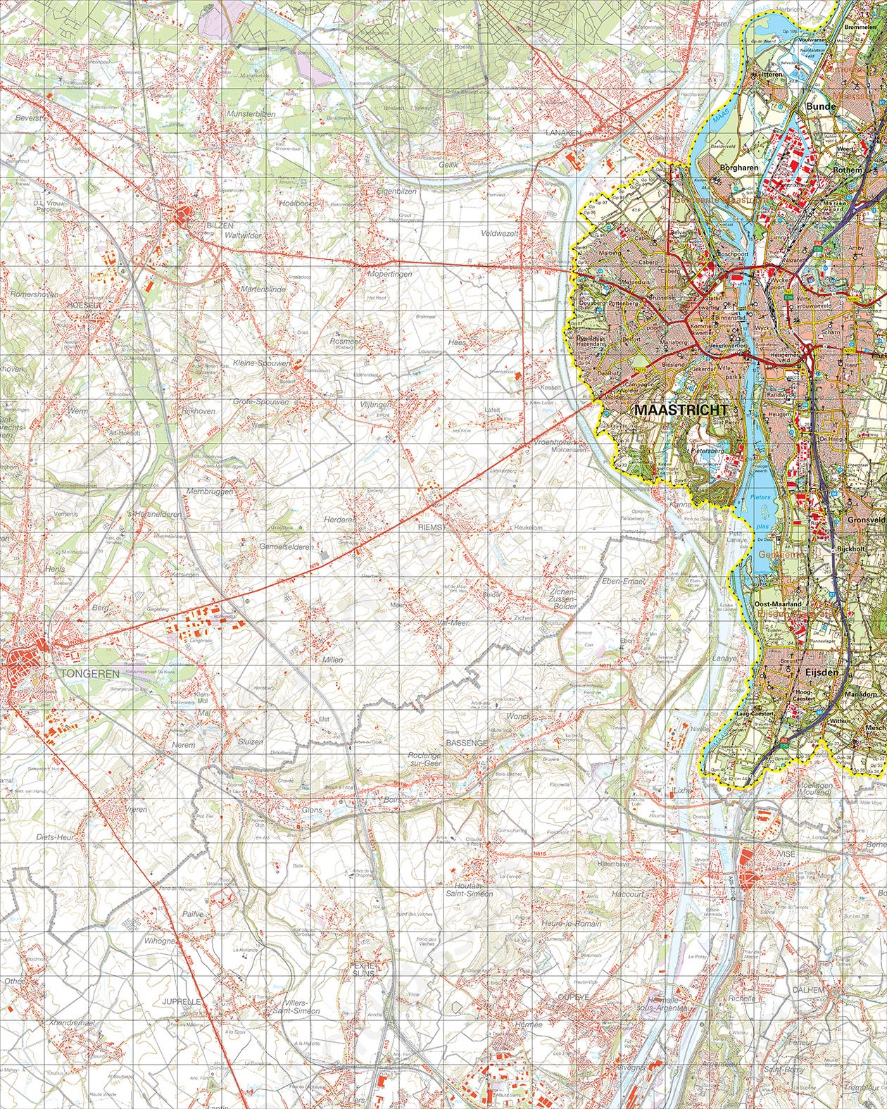 Topografische Kaart 61 Oost Maastricht