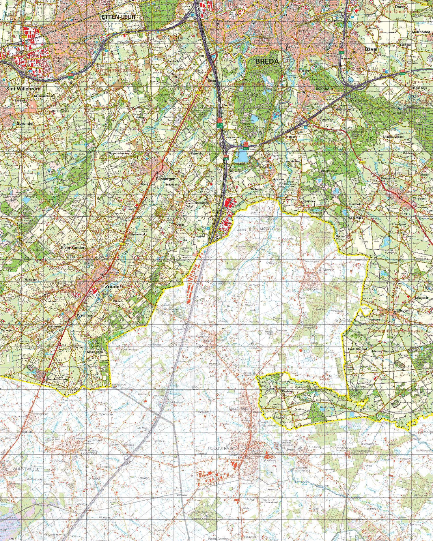 Topografische Kaart 50 West Tilburg