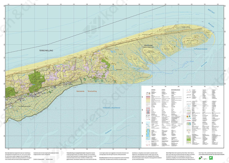 Topografische kaart Terschelling
