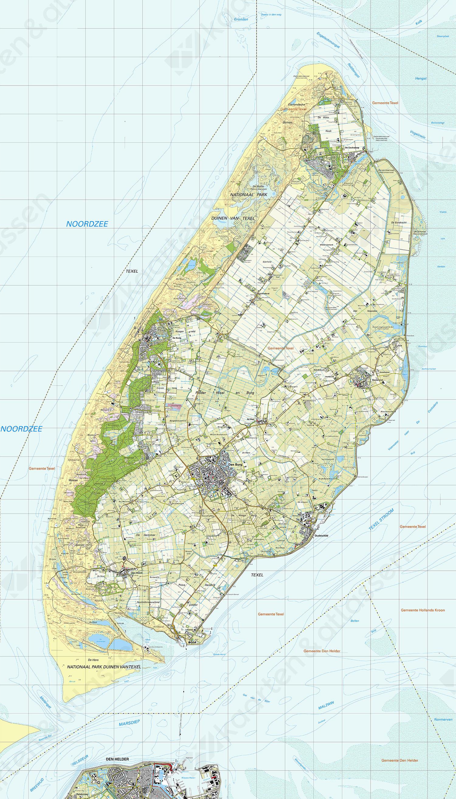 Digitale Topografische Kaart Texel Kaarten En Atlassen Nl