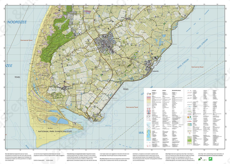 Topografische kaart Texel