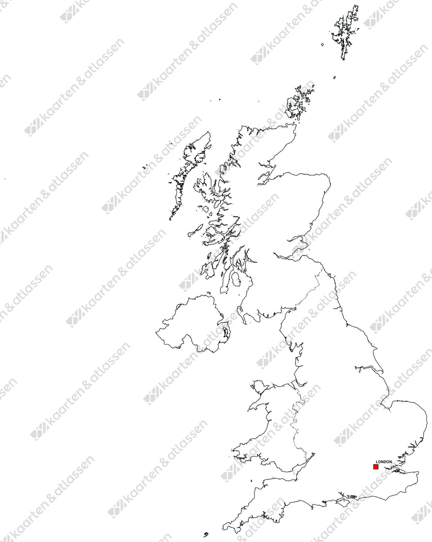 gratis digitale kaart Digitale Landkaart van Verenigd Koninkrijk (gratis) | Kaarten en