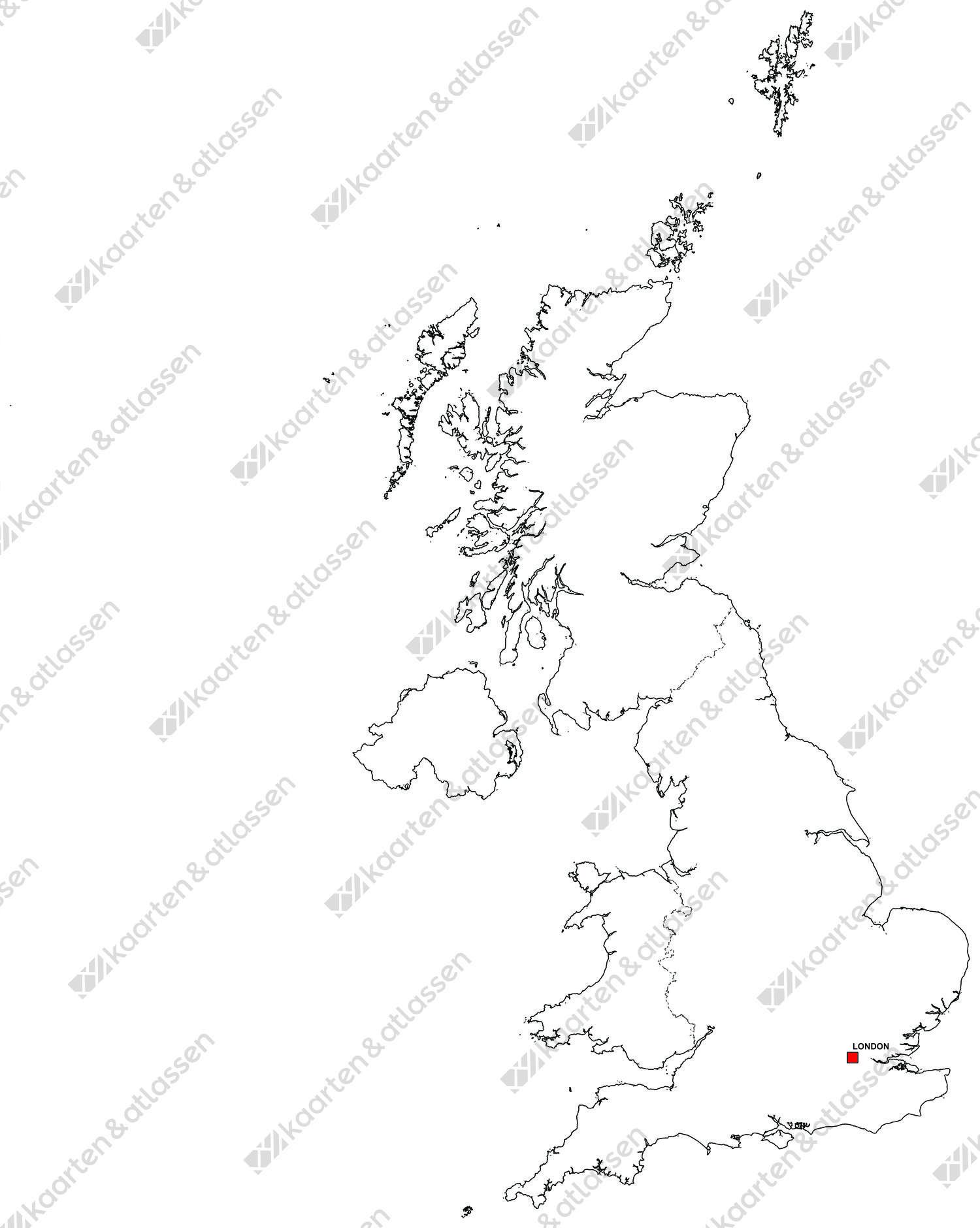 Gratis digitale kaart Verenigd Koninkrijk