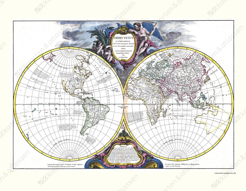 Wereldkaart Robert de Vaugondy