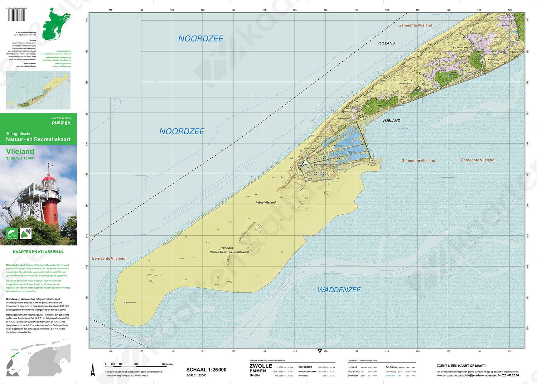Topografische kaart Vlieland