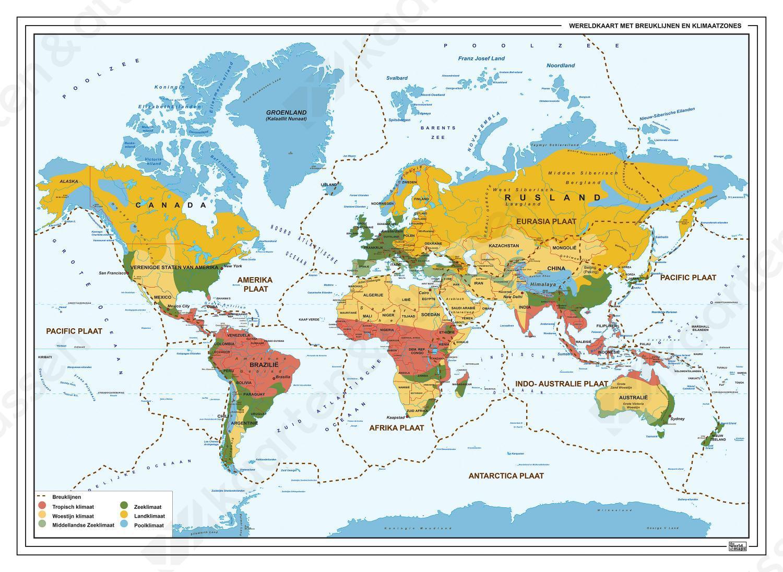 wereldkaart klimaatzones-breuklijnen 1322