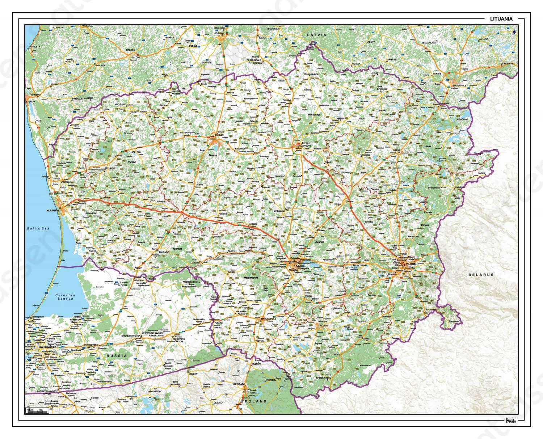 wegenkaart Litouwen