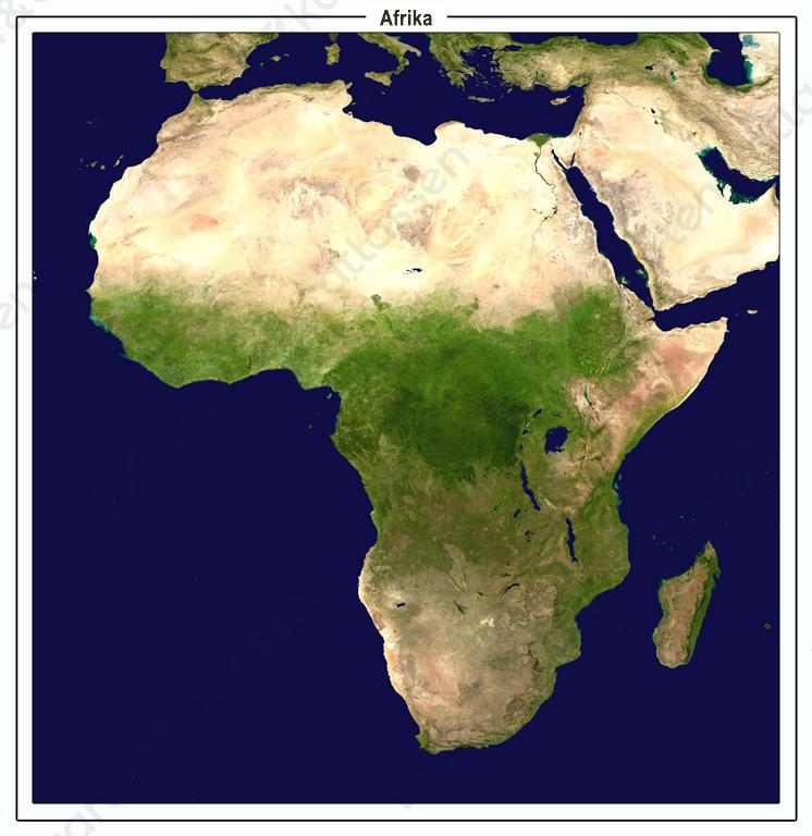 Satellietbeeld Afrika