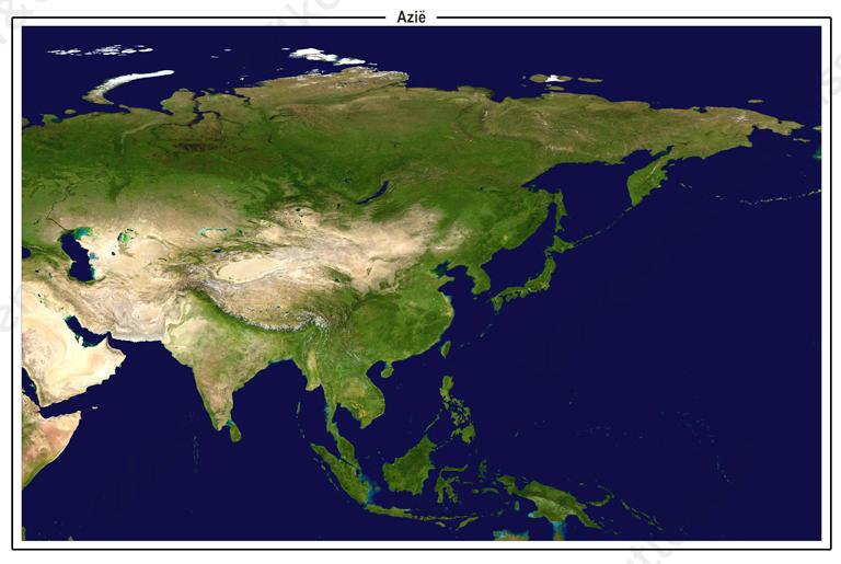 Satellietbeeld Azië