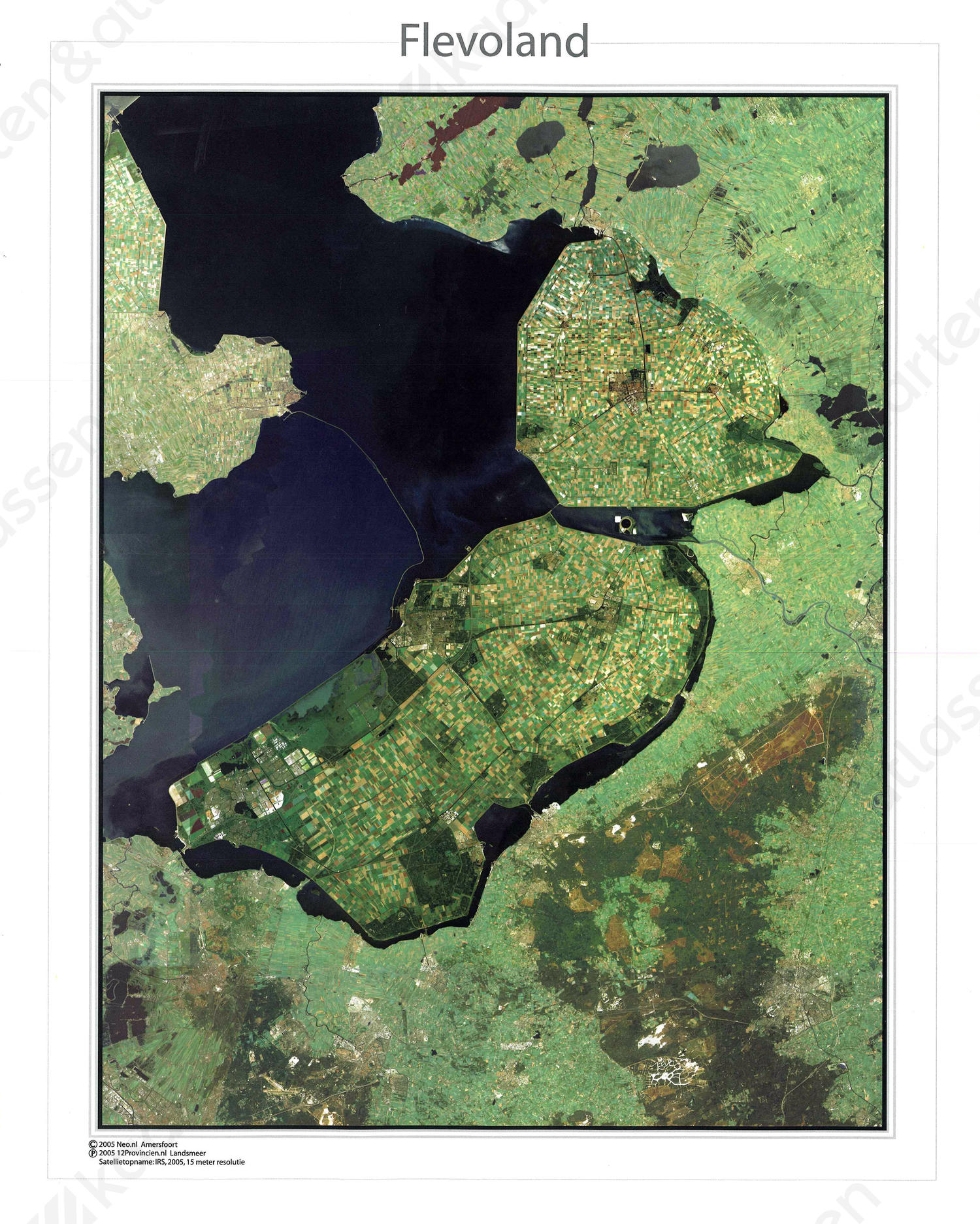 Digitale Satellietkaart Flevoland