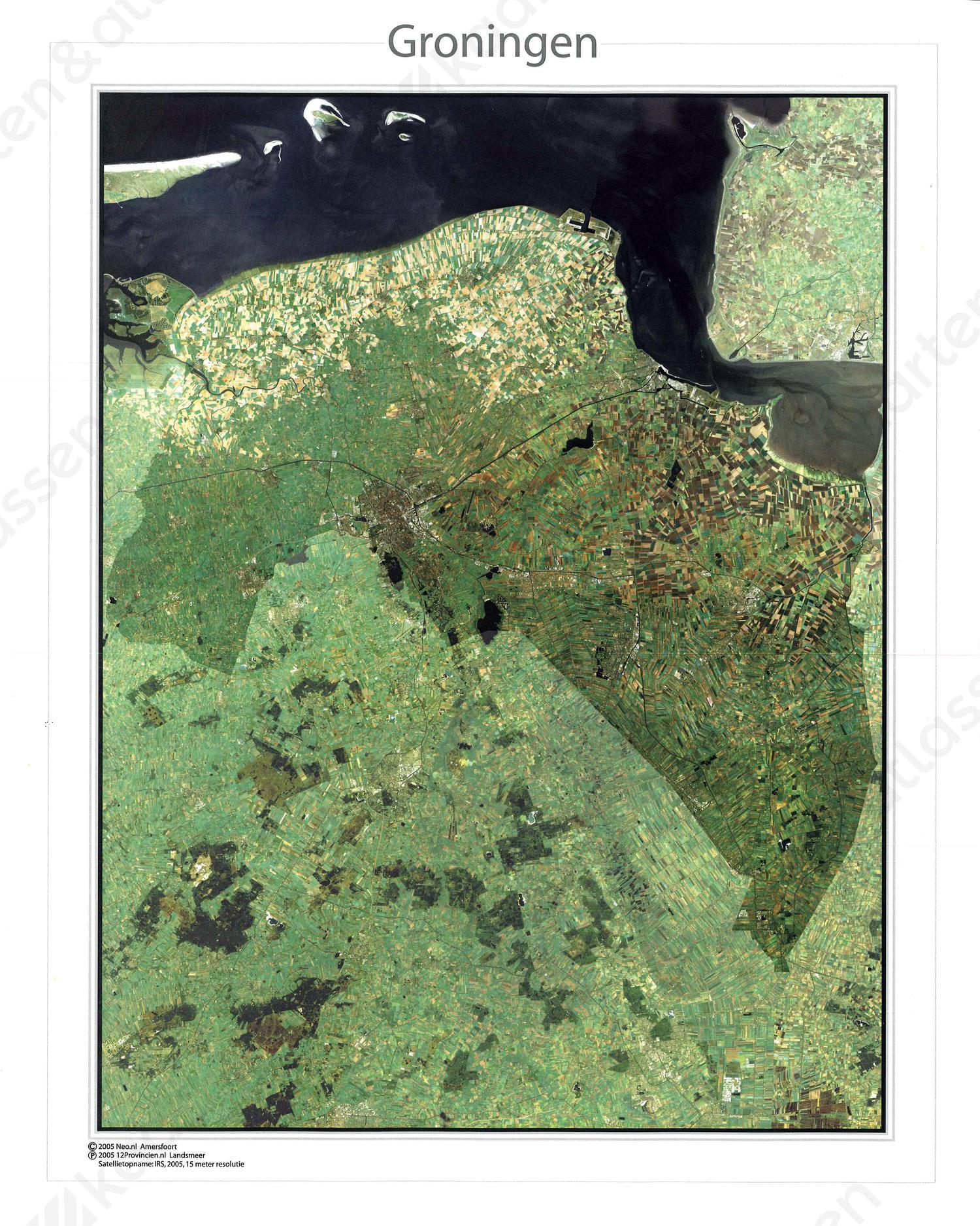 Satellietkaart Groningen