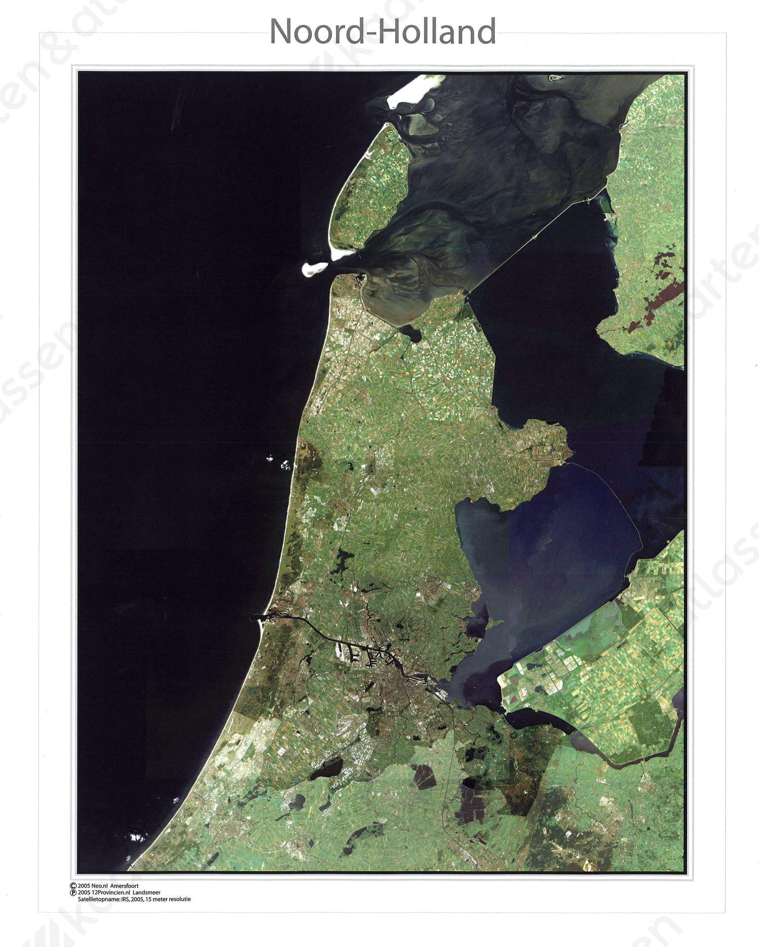 Satellietkaart Noord-Holland