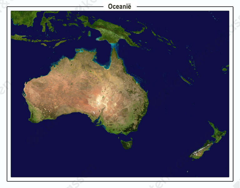 Digitaal Satellietbeeld Oceanïe 1334