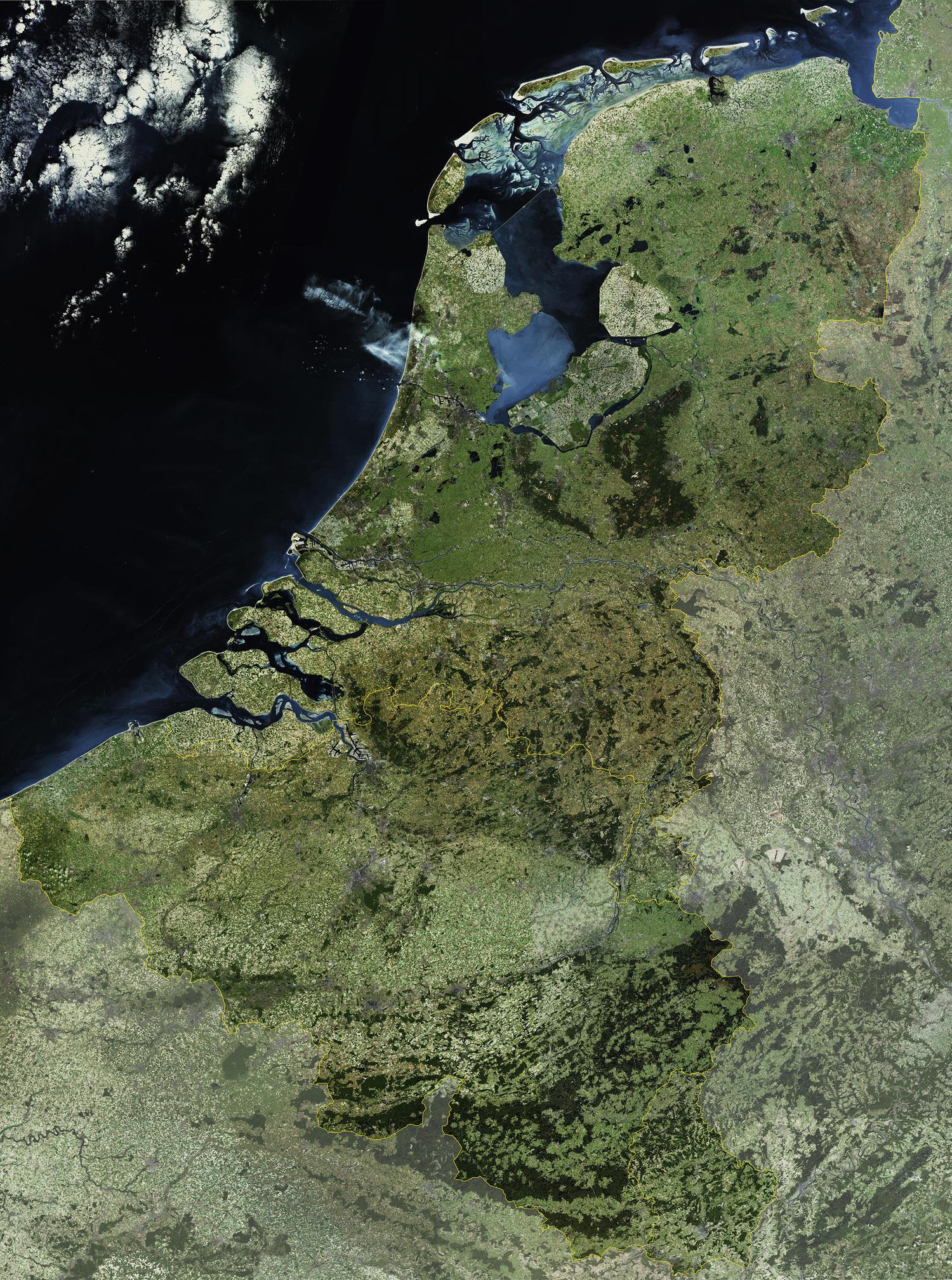 Digitale Satellietkaart Benelux
