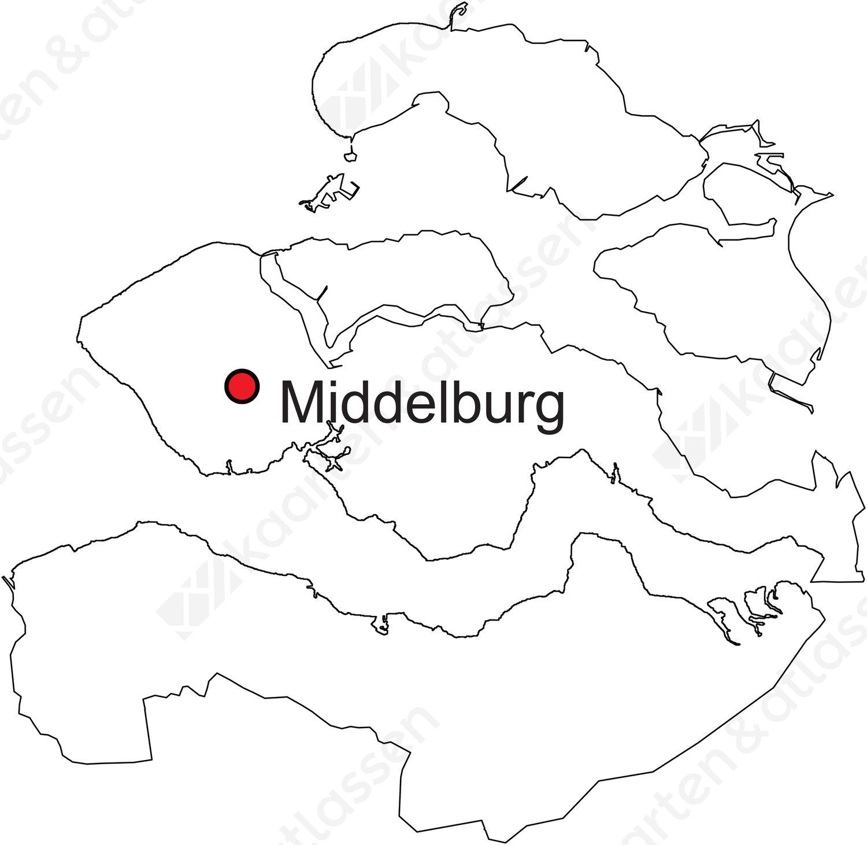 Digitale Provinciekaart Van Zeeland Gratis Kaarten En Atlassen Nl