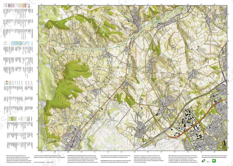 Topografische kaart Zuid Limburg - Het Geuldal