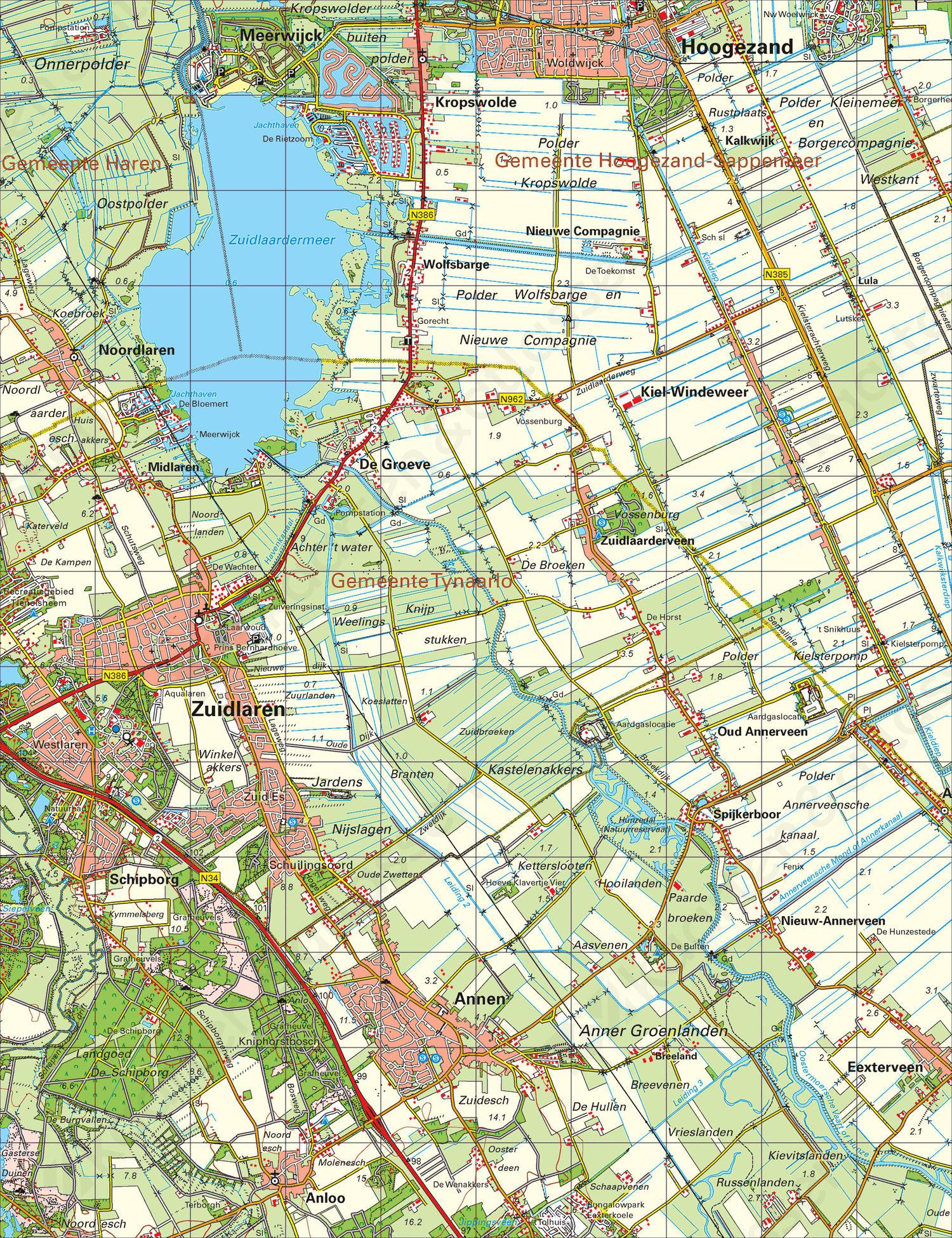 Topografische Atlas Noord Nederland