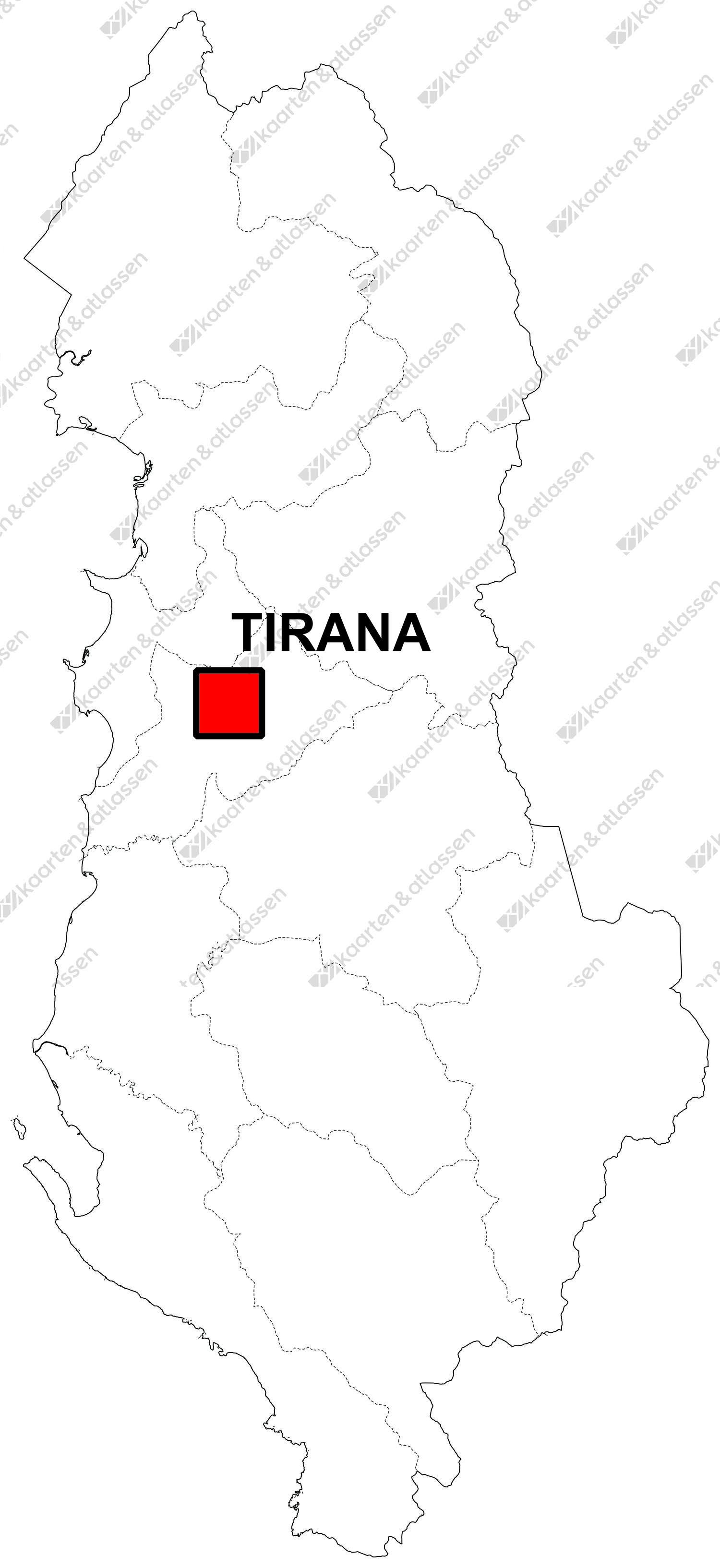 Gratis Albanië digitale kaart