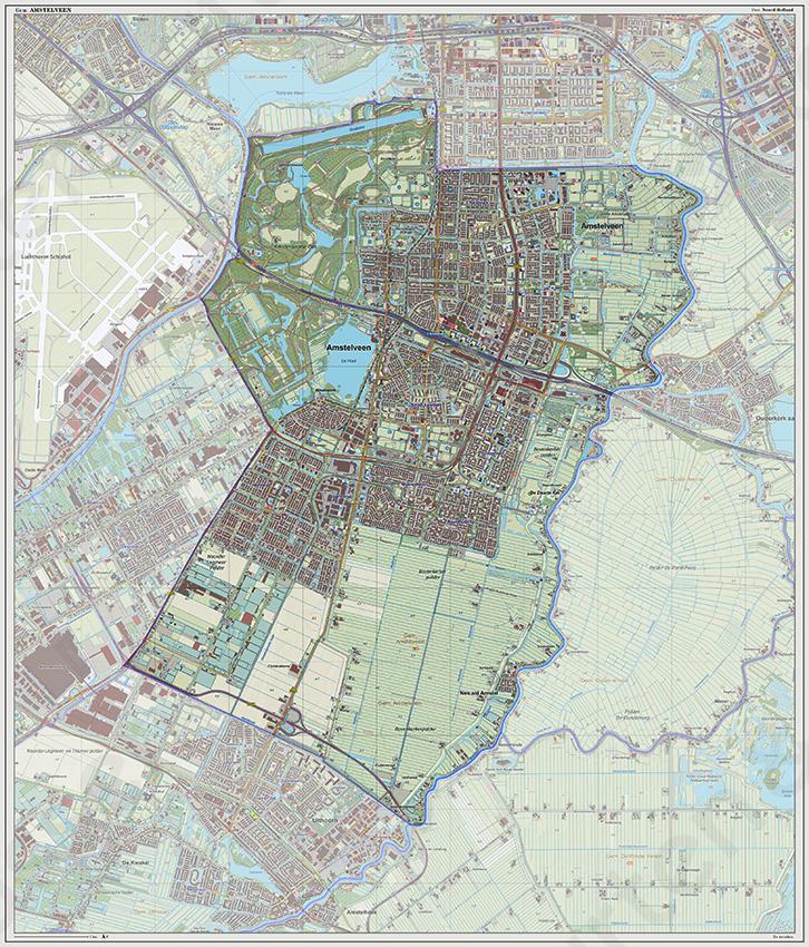 Digitale Kaart Amstelveen Kaarten En Atlassen Nl