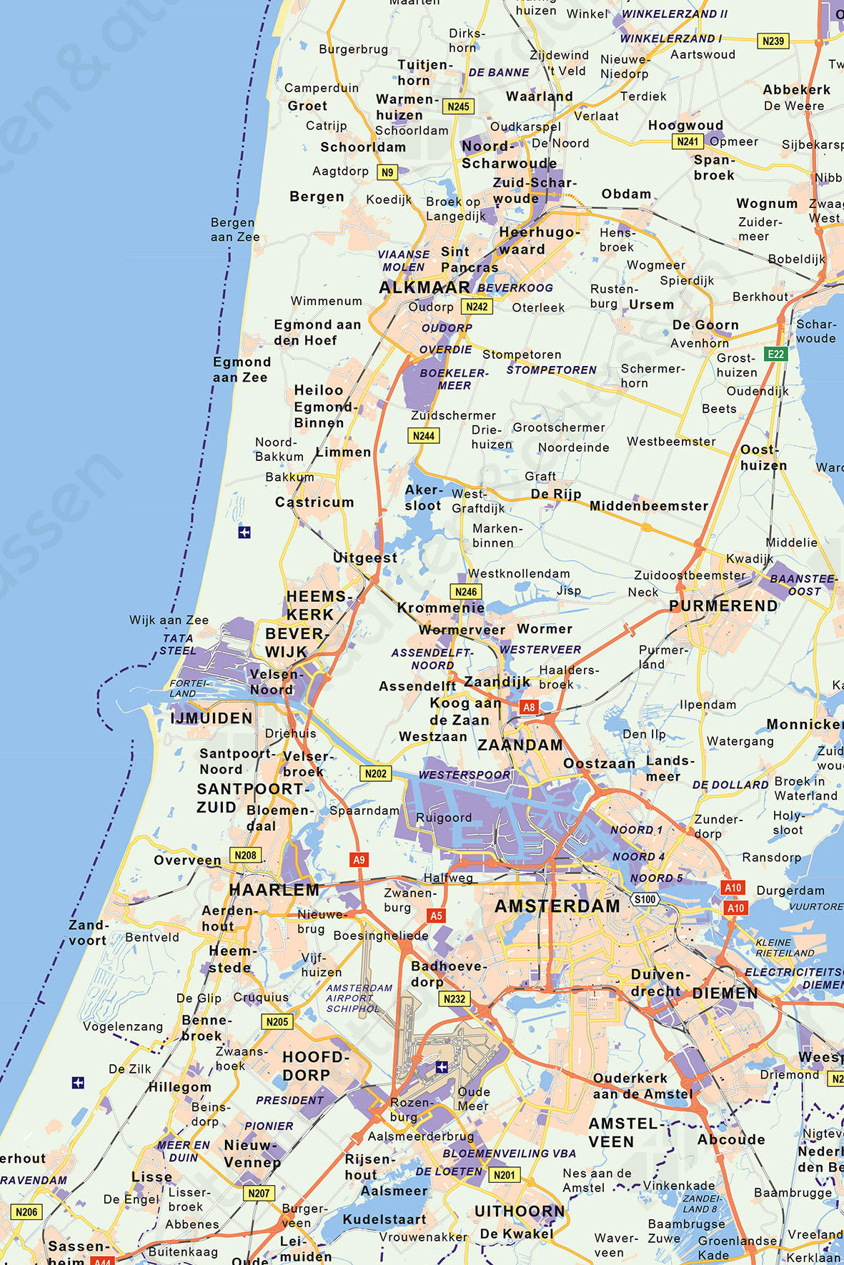 bedrijventerreinen kaart