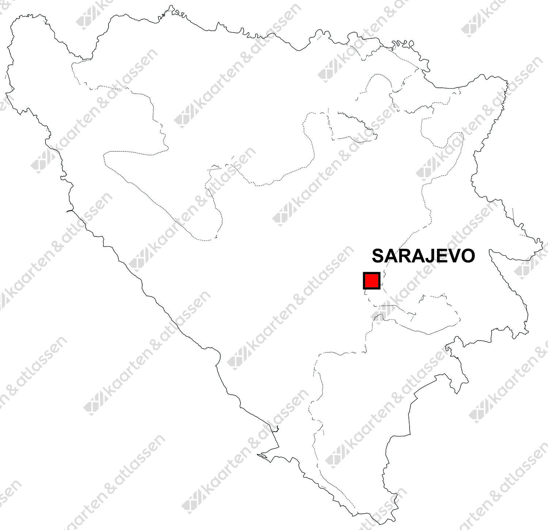 Gratis digitale kaart Bosnië & Herz
