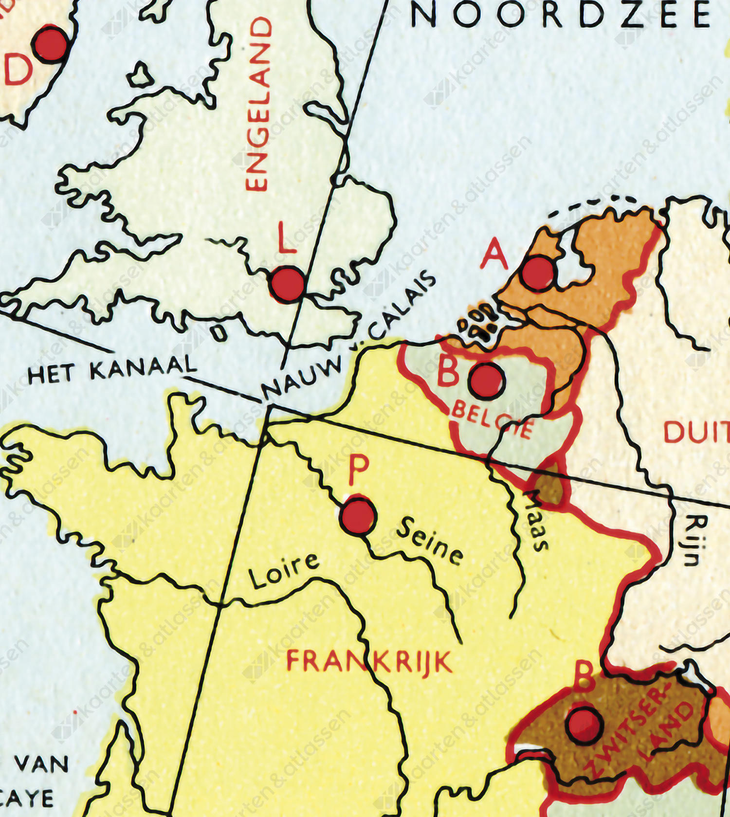 Europa Schoolkaart anno 1951