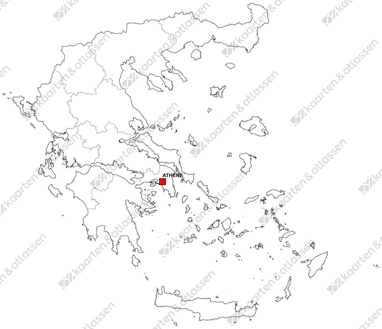Gratis digitale kaart Griekenland