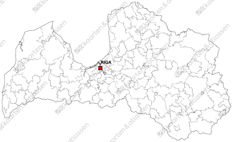 Gratis digitale kaart Letland