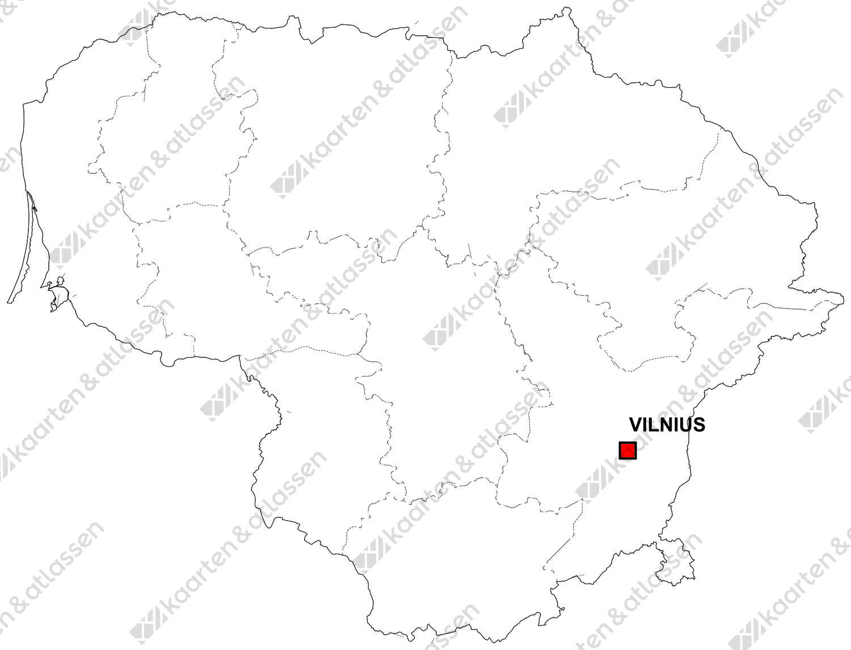 Gratis digitale kaart Litouwen