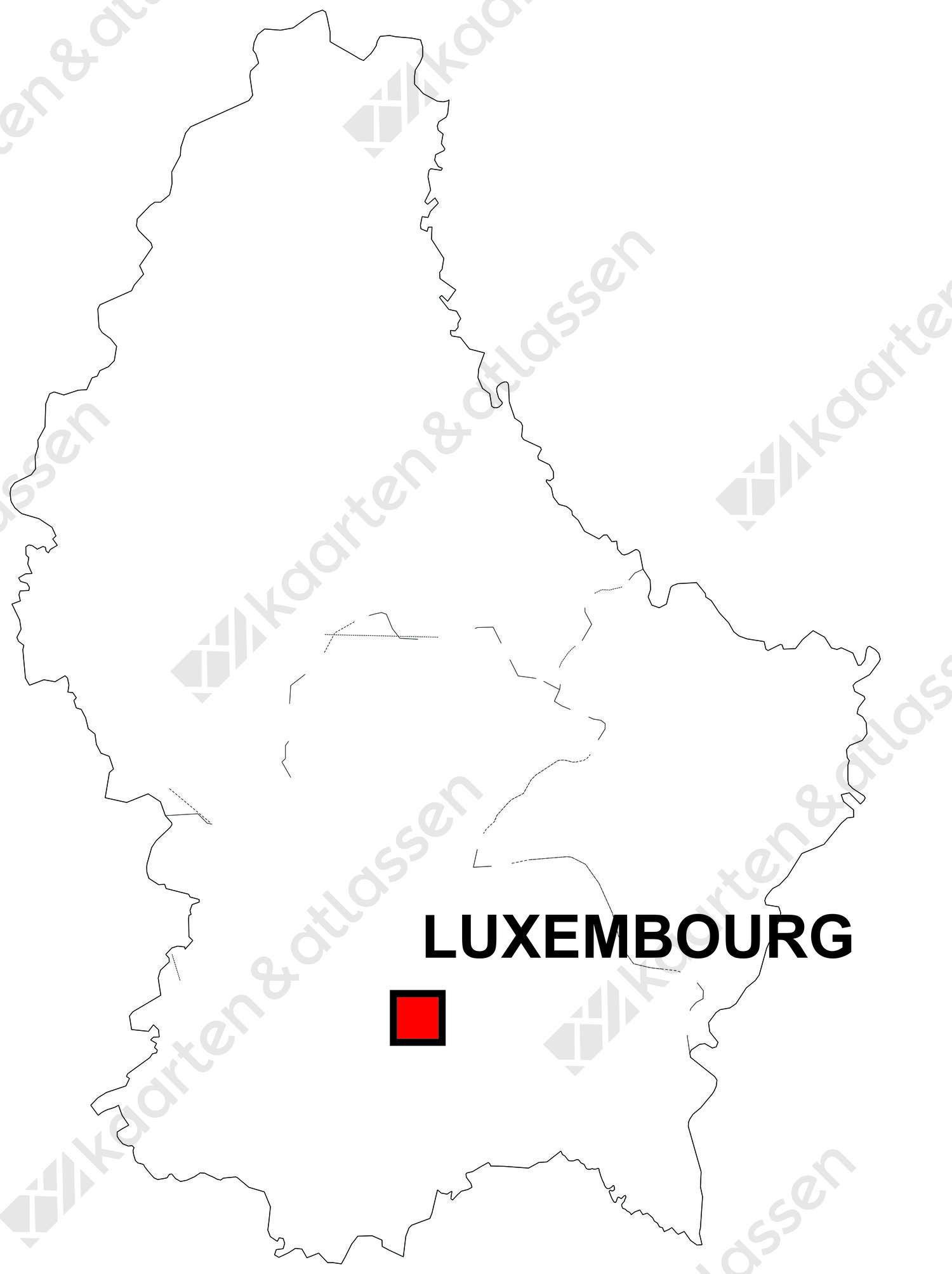 Gratis digitale kaart Luxemburg