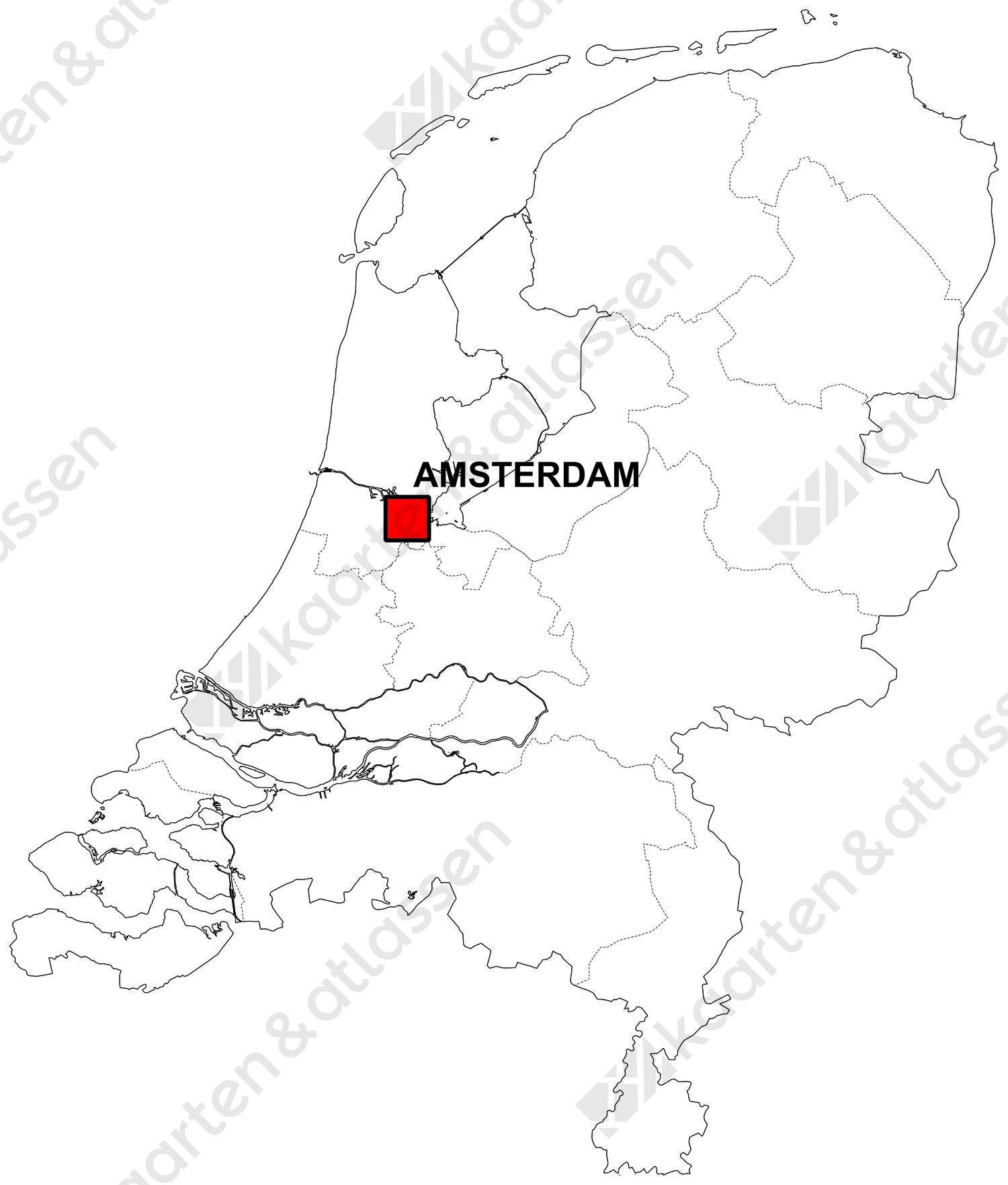 Gratis digitale kaart Nederland