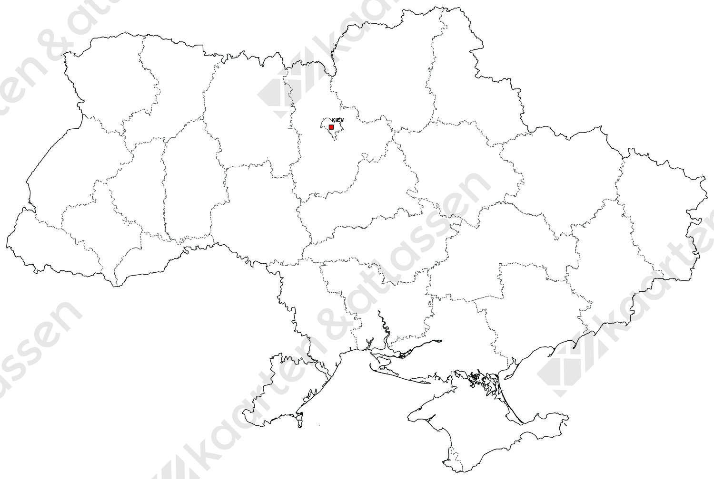 Gratis digitale kaart Oekraïne