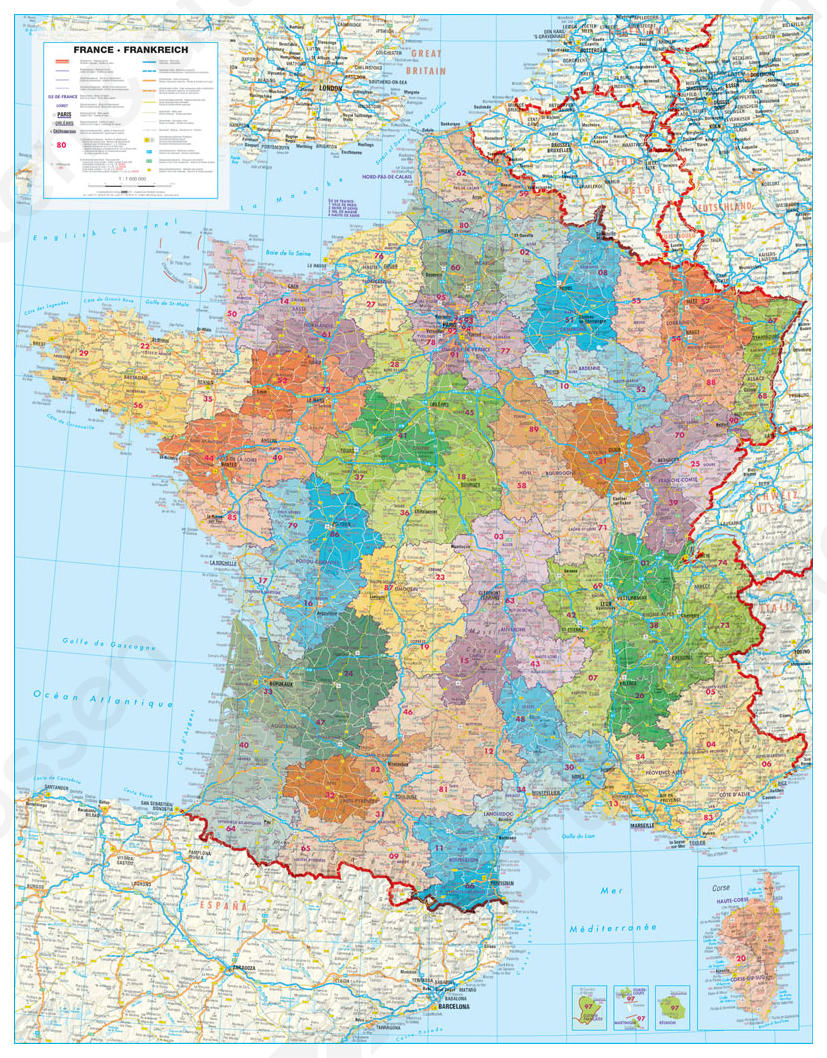Heloohaloo 25 Nieuwe Gedetailleerde Kaart Van Frankrijk
