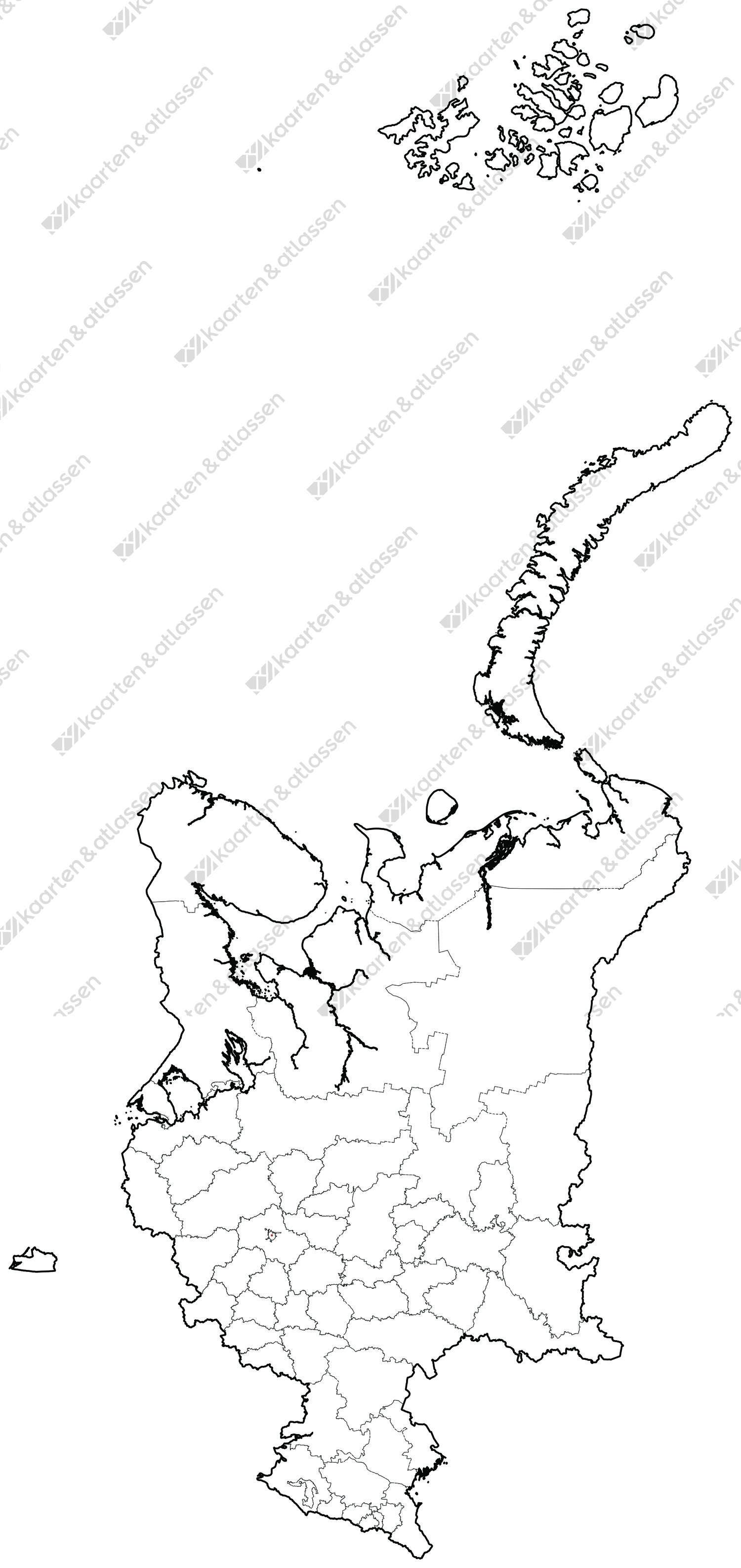 Gratis digitale kaart West-Rusland