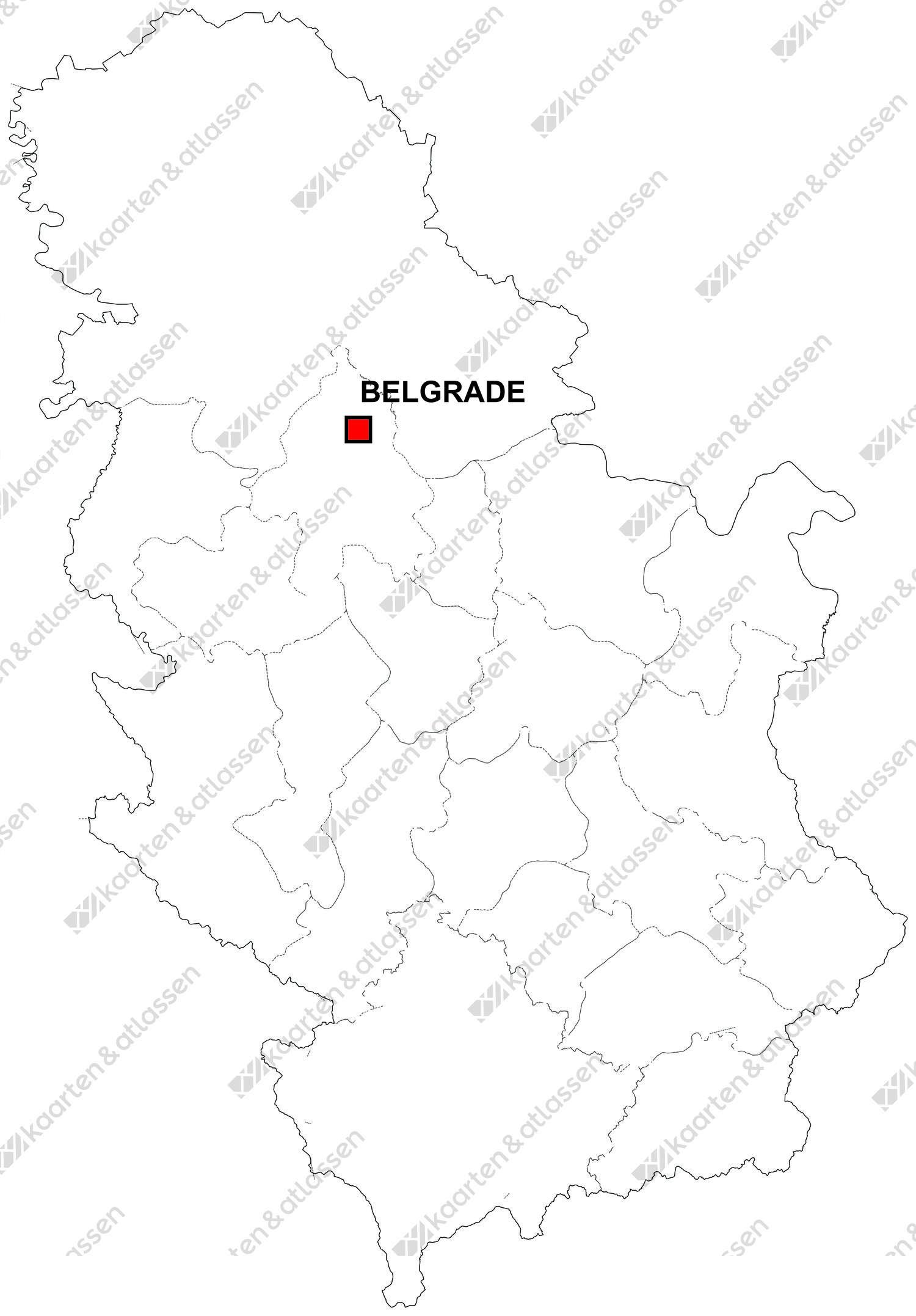 Gratis digitale kaart Servië