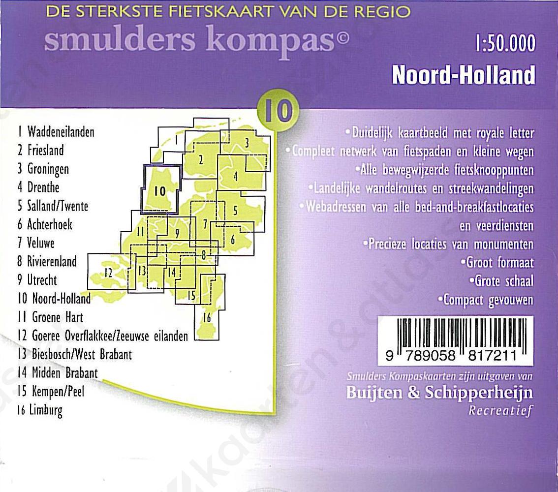 Fietskaart_NoordHolland_Achterkant