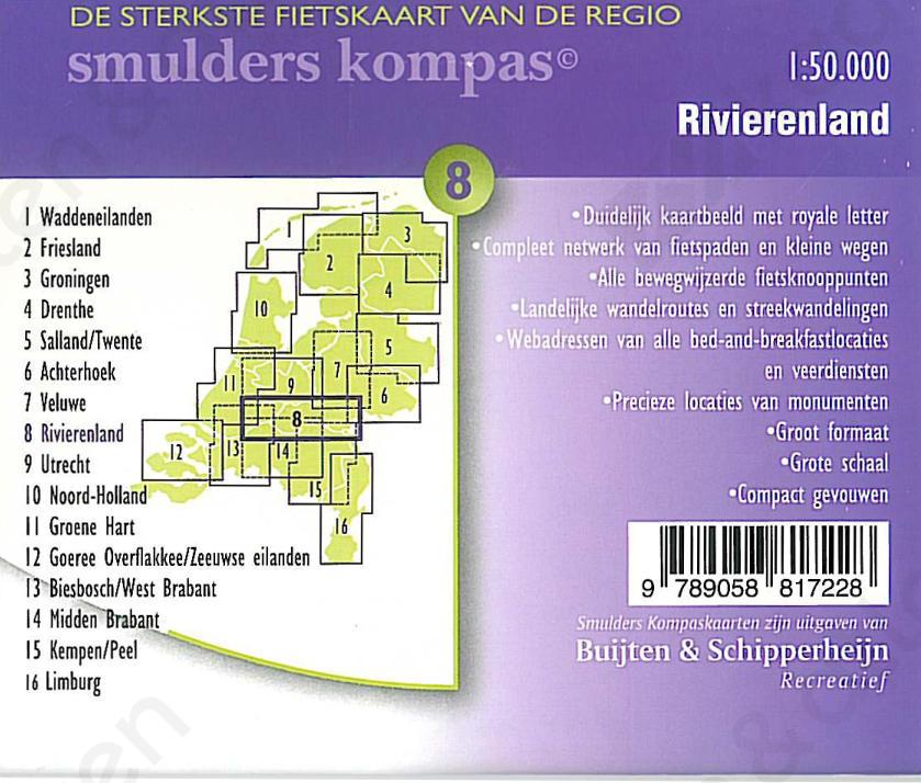 Fietskaart_Rivierenland_achterkant