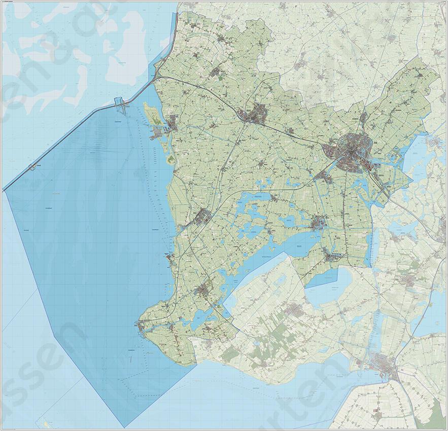 Digitale Kaart Sudwest Fryslan Kaarten En Atlassen Nl
