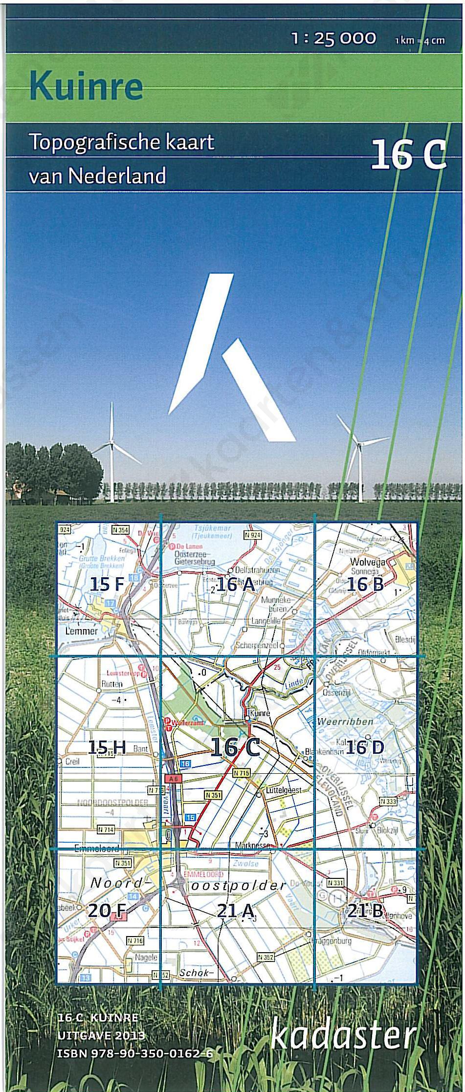 Topografische Kaart 16C Kuinre