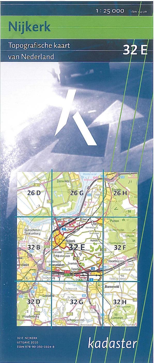 Topografische Kaart 32E Nijkerk